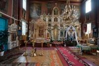 Ikonostas w cerkwi w Puchłach