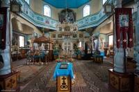 Ikonostas w cerkwi w Narwi