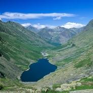 Jezioro Gitara z góry. Pewne podobieństwo jest. Lipiec 2000.