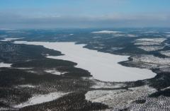 Fińska Laponia z powietrza