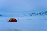 Namiot koło Vuomanhytta
